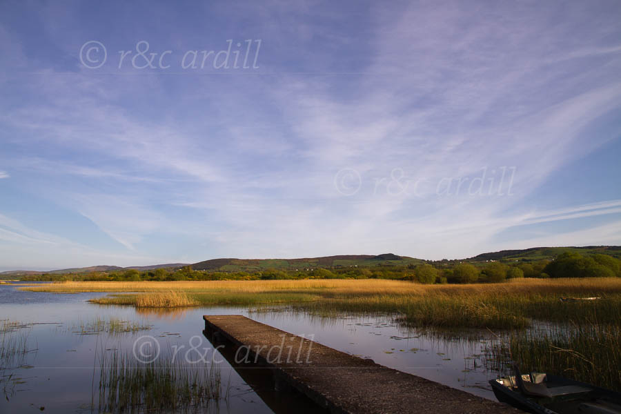Photo of Clare Lough Derg at Sunset - D04016