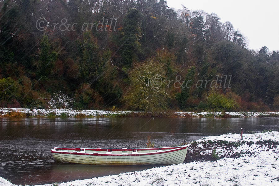 Photo of Boyne Boat in the Snow - M02081
