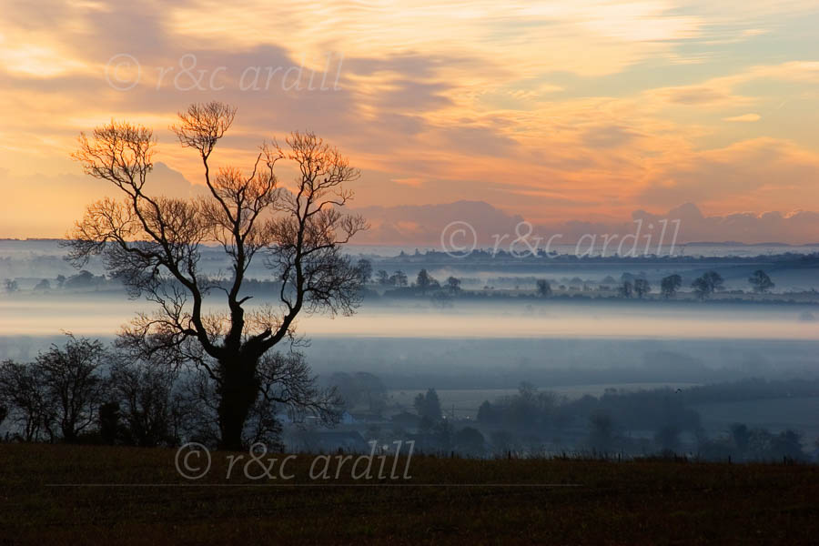 Photo of Meath Dawn on Hill of Slane - M10066