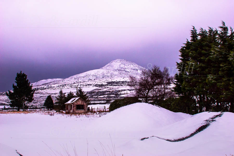 Photo of Wicklow Sugarloaf in Snow - M23291
