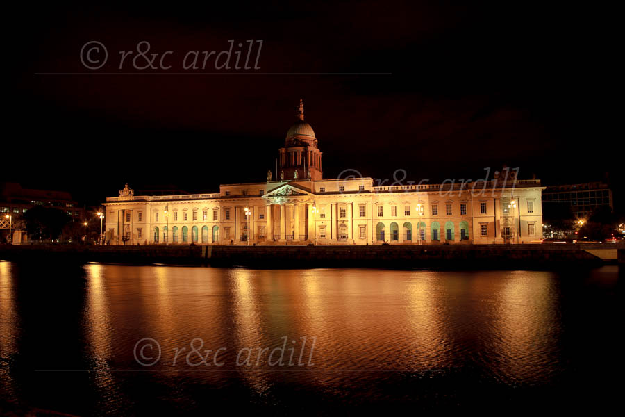 Photo of Dublin Custom House at Night - T10428