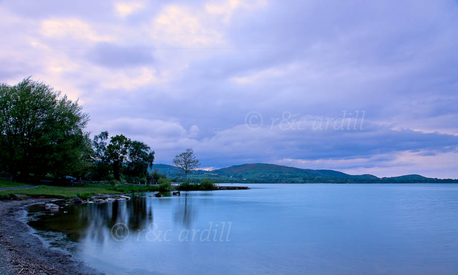 Photo of Clare Lough Derg at Sunset - T26881