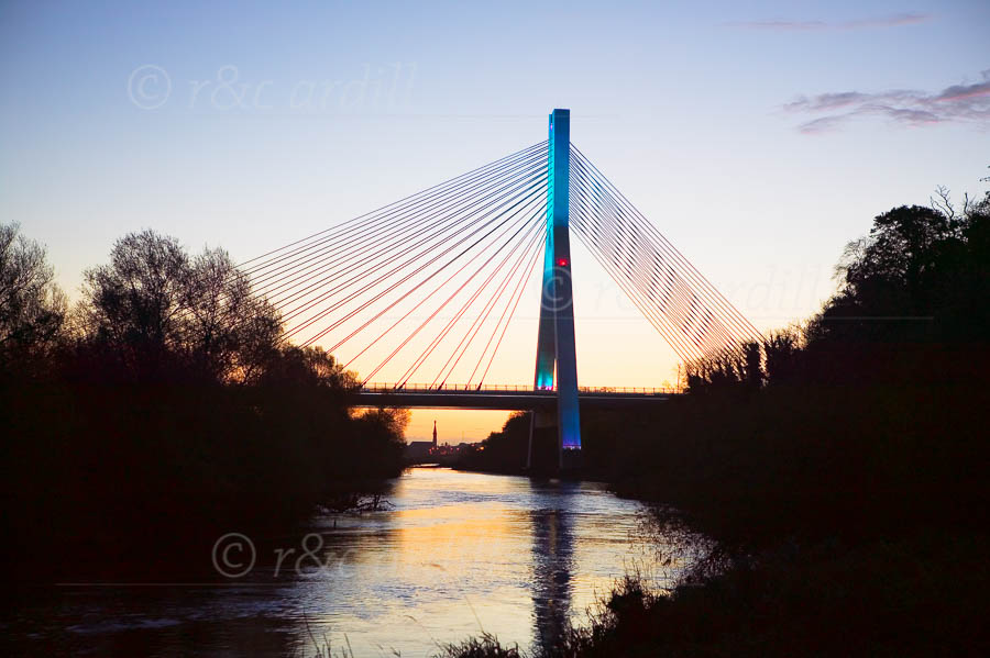 Photo of Drogheda Boyne Cable Bridge - W23427