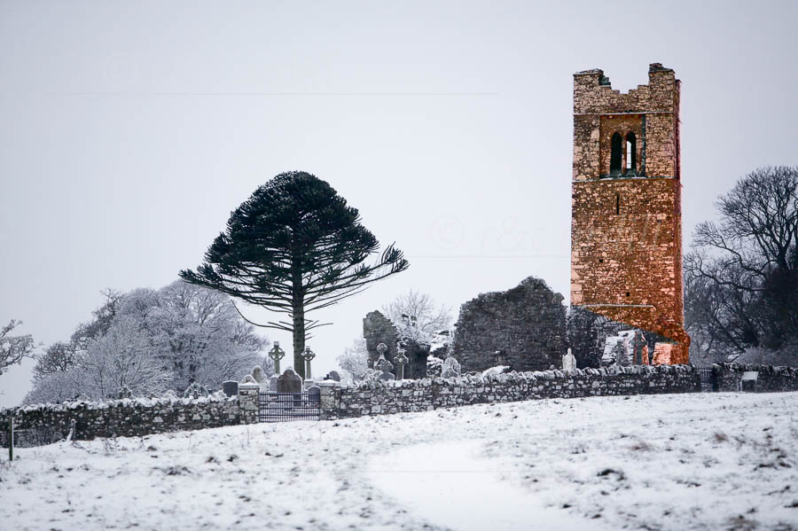 Photo of Hill of Slane Snow Early Morning - W24424