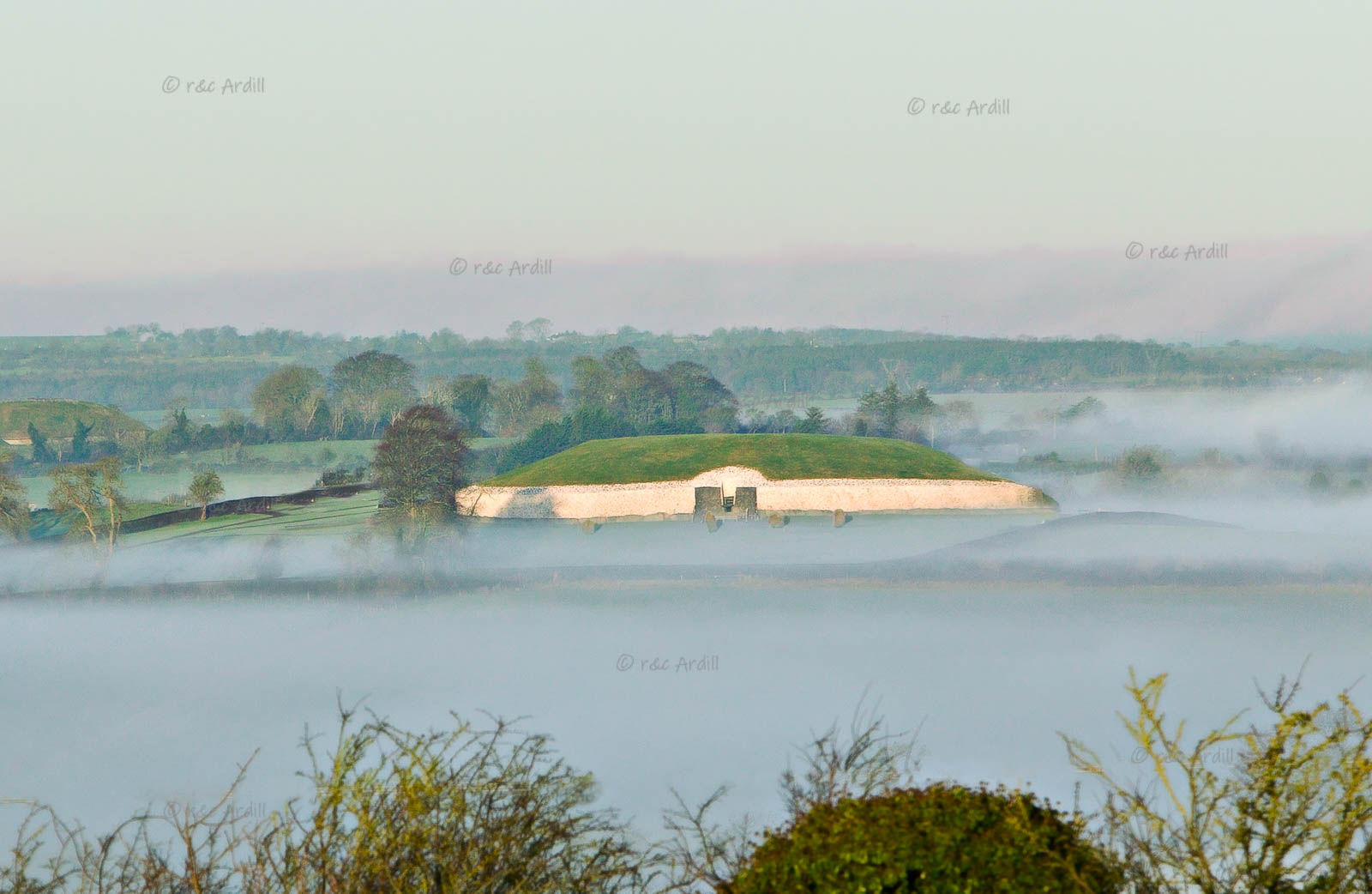 Photo of Newgrange View with Mist - W25575
