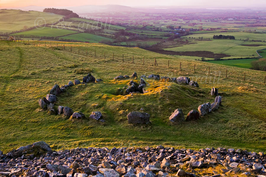 Photo of Loughcrew View from Tumulus - W39832