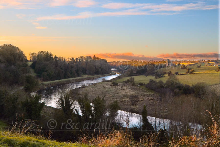 Photo of Boyne sunset at Ardmulchan - W40124
