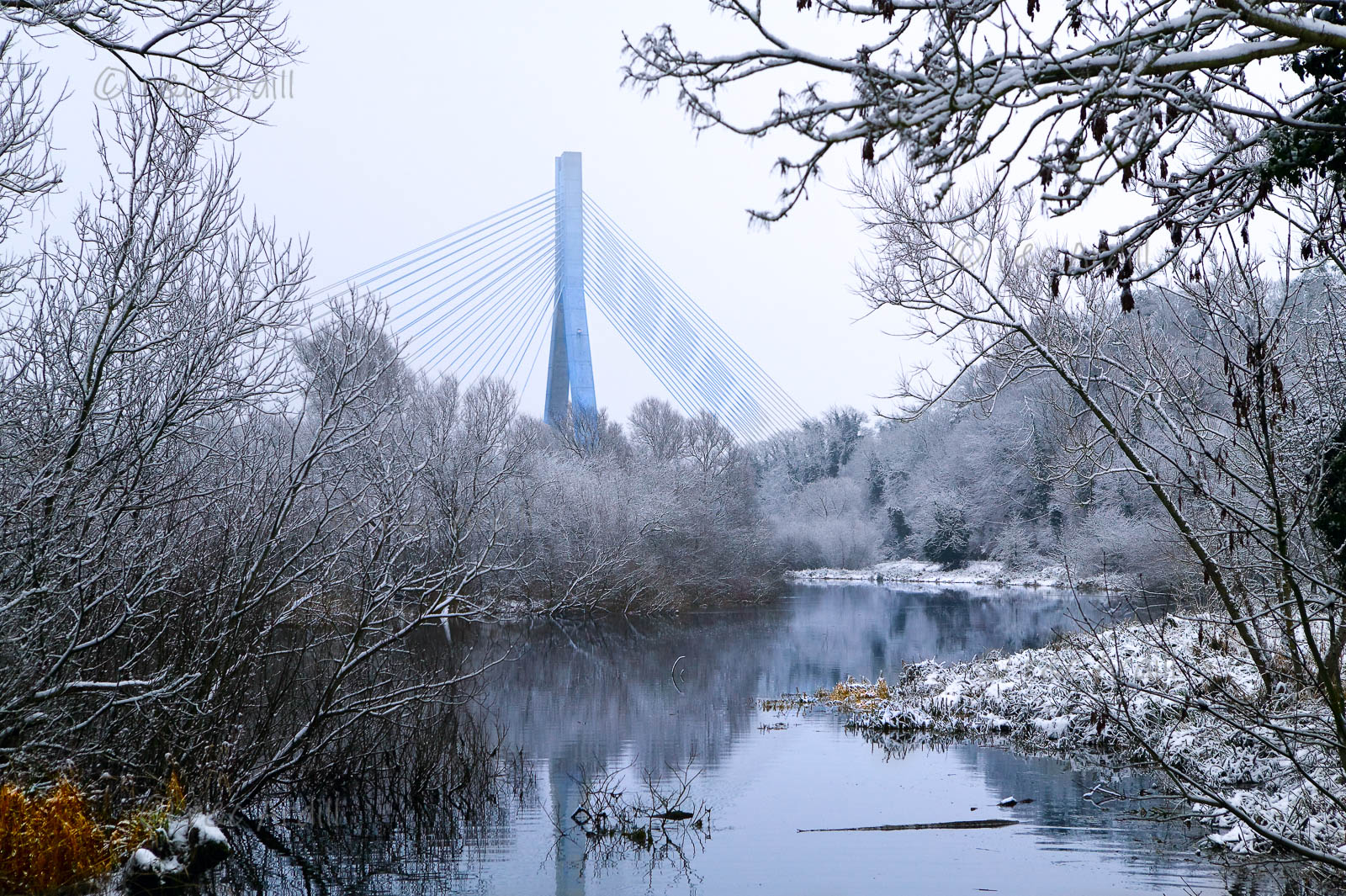 Photo of Boyne Cable Bridge Winter - W40232