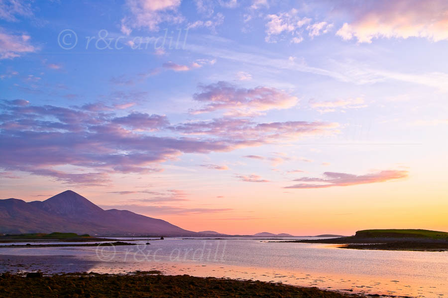 Photo of Westport Sunset Croagh Patrick - W42579