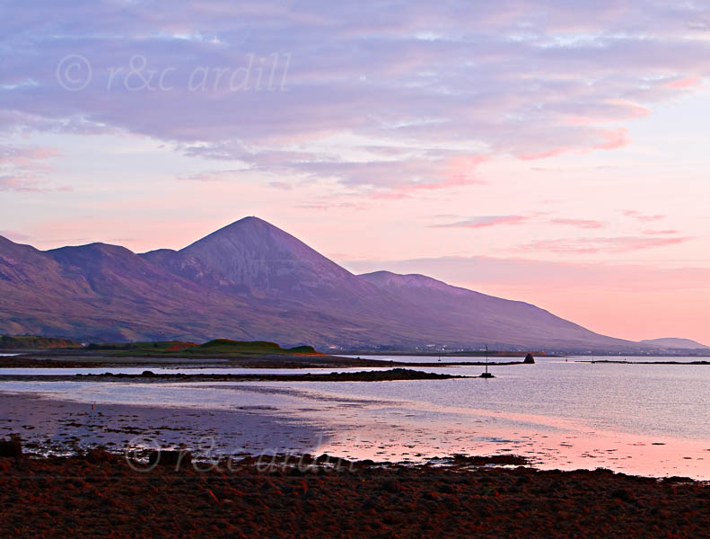 Photo of Westport Sunset Croagh Patrick - W42583
