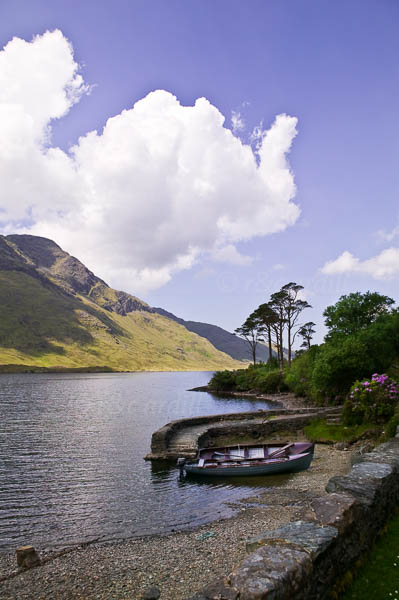 Photo of Doo Lough with boats - W42701
