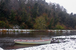 Photograph of Boyne Boat in the Snow - M02081