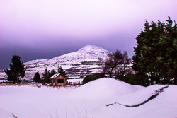 Photograph of Wicklow Sugarloaf in Snow - M23291