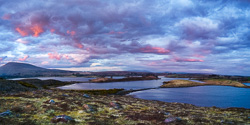 Photograph of Mayo Lough Feeagh Sunset - R03848