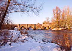 Photograph of Meath Kilcarn Bridge in Snow - T13243