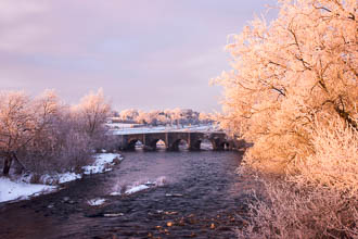 Photograph of Meath Kilcarn Bridge in Snow - T13757