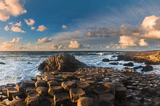 Photograph of Antrim Giants Causeway Evening - T39248