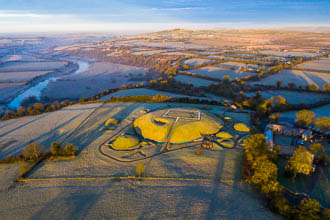Photograph of Meath Knowth Frosty Early Morning - V00534
