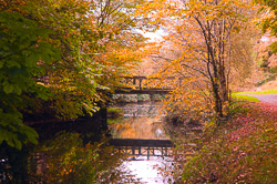 Photograph of Boyne Canal Footbridge in Autumn - W20168
