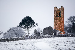 Photograph of Hill of Slane Snow Early Morning - W24424