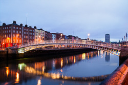 Photograph of Dublin Hapenny Bridge - W24811