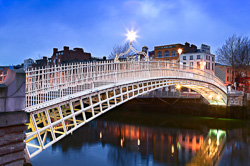 Photograph of Dublin Hapenny Bridge - W24816