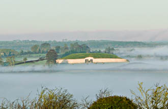 Photograph of Newgrange View with Mist - W25575