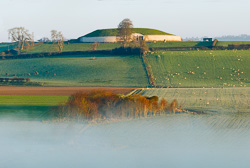 Photograph of Newgrange with Mist - W30473
