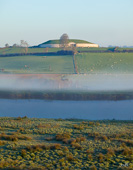 Photograph of Newgrange Boyne with mist - W30487