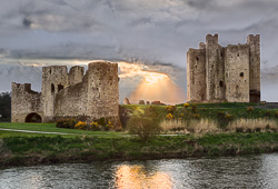 Photograph of Trim Castle Snowy Sunset - W30942