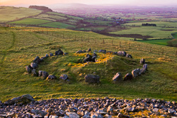 Photograph of Loughcrew View from Tumulus - W39832