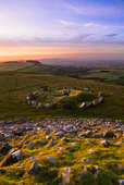 Photograph of Loughcrew View from Tumulus - W39834