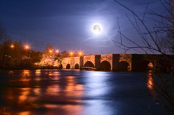 Photograph of Meath Kilcarn Bridge Moonlight - W40144
