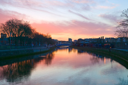 Photograph of Dublin Liffey at Dawn - W40639