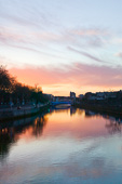 Photograph of Dublin Liffey at Dawn - W40642