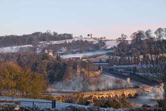 Photograph of Meath Slane Bridge and Hill Winter - W40704