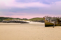 Photograph of Donegal Bunbeg boat wreck - W41889