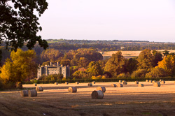 Photograph of Slane Hay Bales and Castle - W44004