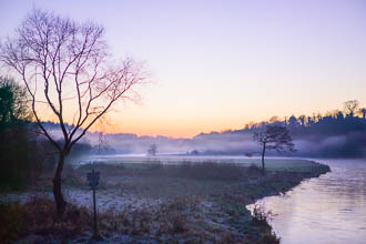 Photograph of Boyne Misty Winter Sunset - W44550