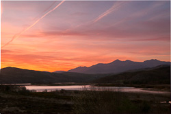 Photograph of Macgillycuddy Reeks Sunrise - W58825
