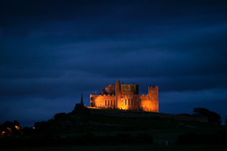 Photograph of Rock of Cashel at night - X69333